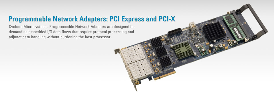 Programmable Network Adapters: PCI Express and PCI-X