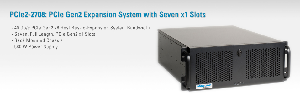 PCIe2-2708:PCIe Gen2 Expansion System with Seven x1 Slots