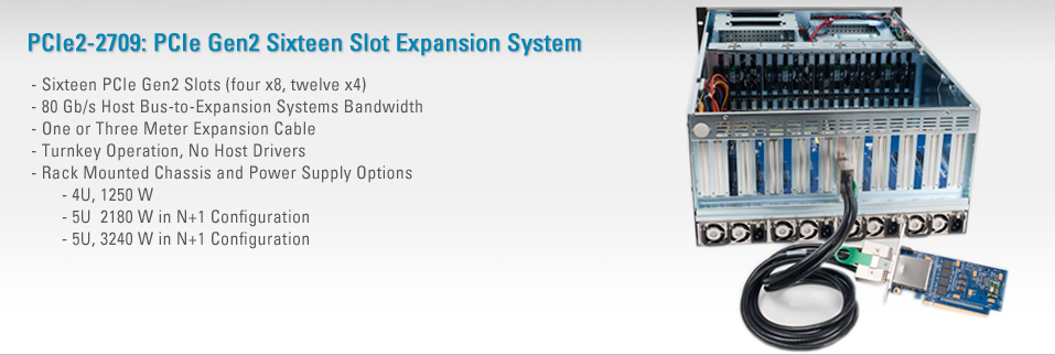 PCIe2-2709:PCIe Gen2 Sixteen Slot Expansion System