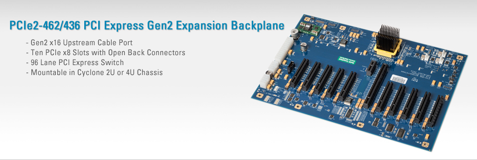 PCIe2-462 PCI Express Gen2 Expansion Backplane